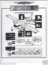 Safety Card - Island West Air - BN-2A-26 Islander (BC, Canada) (S3286)