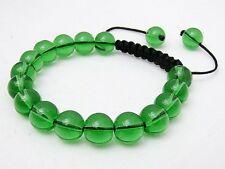 Shamballa bracelet  all 10mm  Green GLASS beads