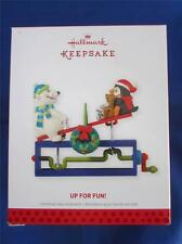 2013 Hallmark Keepsake Ornament Up for Fun Bear/Penguin Seesaw QXG1735 NIB