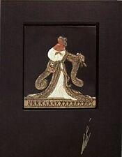 Rigoletto (Bronze) Bas Relief & Signed Book, Limited Edition, Erte - MINT w/ COA