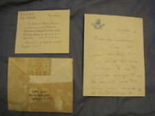 1942 NELSON ROCKEFELLER Autographed Letter + Invite JSA (James Spence Authentic)