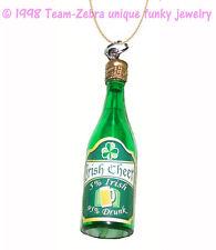 Funky IRISH DRUNK PENDANT NECKLACE Funny Whiskey Novelty Charm Costume Jewelry