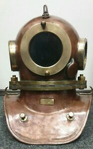 Original Russian  Soviet 3-bolt diving helmet (year 2000). USSR MARITIME