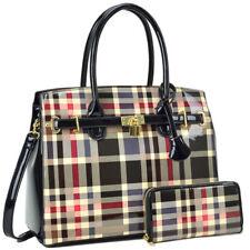 New 2018 Womens Handbag Faux Leather Satchel Bag Tote Bags Medium Purse 2 Styles