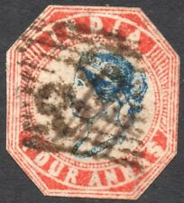 India. Queen Victoria. 4 Anna. Used.  Issued 1855.  SG No. 21b