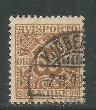 Denmark 1907 68o yellow brown Newspaper Stamp (P7) fine used