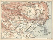 Carta geografica antica SIRACUSA ORTIGIA Sicilia TCI 1919 Old antique map