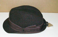 Stetson All Ameican Brown Fedora L/XL Hat NEW