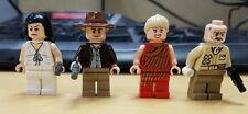 Lego Indiana Jones JR. & SR. Marion Ravenwood, WILLIE SCOTT minifigure Lot of 4