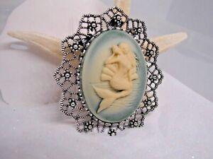 Chic Rétro Or Laiton Sweet Princess Mermaid Fashion Jewelry Broche Parti