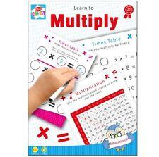 20 x A5 Riutilizzabile Pulibile Con Panno matematica moltiplicare i tempi di tabelle libro educativo Penna