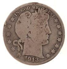 1913 Barber Half Dollar - Key Date - AG Condition