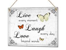 Live laugh Love Metal Sign Home Decoration Tin Plaque Wall Art