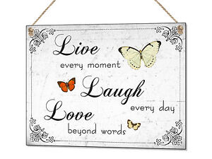 Live laugh Love Metal Sign Home Decoration Tin Plaque Wall Art