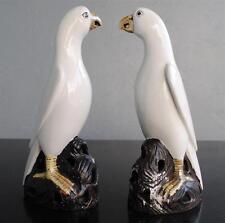 Couple de perroquet blanc porcelaine chinoise