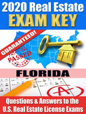 2020 FLORIDA Real Estate Exam Prep Study Guide Questions & Answers [CD-ROM]