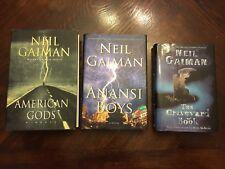 American Gods, Anansi Boys, The Graveyard Book By Neil Gaiman All 1st 1st