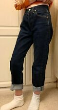 Ladies LEVIS 501 STRAIGHT Hi Waist Leg Jeans ~ Size 26 L28 fit UK 6/8 Vintage