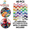 Acrylic Yarn Mixed Lot Wool Balls Skeins 40 Pcs Assorted Colors 22 Yards Each