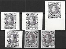 Colombia stamps 1880 5c-1Pes PROOFS in Black UNG VF Scarce!