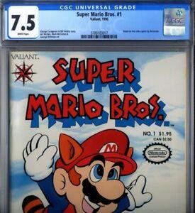 PRIMO:  Super MARIO Bros #1 VF- 7.5 CGC NINTENDO 1990 Valiant comics video game