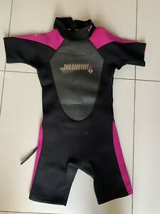 Childs Two Bare Feet Shortie Wetsuit Size XXXL