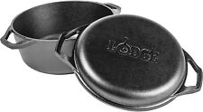 Lodge Chef Collection 6-Quart Cast Iron Double Dutch Oven
