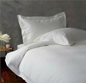 1000 TC EGYPTIAN COTTON BEDDING DUVET COVER+ FITTED SHEET+ PILLOW CASE WHITE