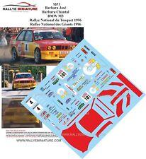 DECALS 1/43 REF 1671 BMW M3 JOSE BARBARA RALLYE DU TOUQUET 1996 RALLY