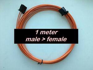 MOST fiber optic optical cable fits German + EU cars 1 meter MALE > FEMALE