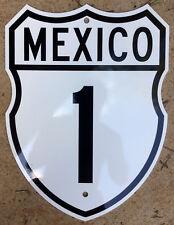 Mexico route 1 highway road sign Baja California norte sur Cabo San Lucas