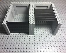 Lego New City Light Gray Garage W/ Black Roller And Handle Complete Assembly X2