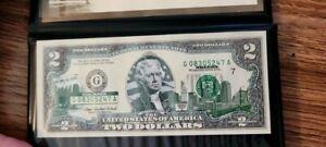 2003 A Two Dollar Bill $2 Overprint 50 States Series Oregon
