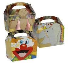 24 Big Top Circus Clown Food Boxes ~ Picnic Carry Meal Box ~ Birthday Party Bag