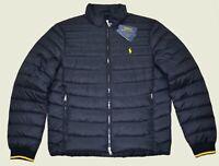 New XL Mens RALPH LAUREN POLO jacket packable puffer down Black Coat winter XLG