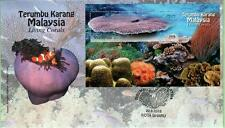 Malaysia 2013 Living Corals ~ FDC