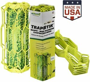 RESCUE! TrapStik for Wasps, Mud Daubers, Carpenter Bees - USA Made!