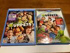 Muppets Most Wanted AND THE MUPPETS DISNEY  BLU RAY WITH SLIPCOVERS