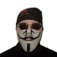 Guy Fawkes Bandavo seamless tube bandana gaiter Seamless Face Shield Mask spf 50