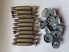 Locking Cam & Dowels, ideal for flatpack furniture repair and assembly  Pk 10