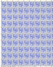 YUGOSLAVIA: FULL SHEET OF 100 x 70 DINARS STAMPS 1985, SCOTT #1719 CV$150