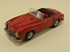 SCHUCO  - MERCEDES 190 SL Cabrio - 2095 -Blechspielzeug - VITRINEN-MODELL in rot