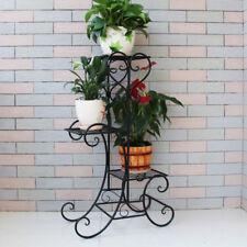 Blumenständer Schwarz Blumenregal Blumentreppe Pflanztreppe Garten 4 Etage GD