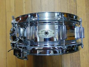 Vintage Rogers Dynasonic 7 Line 5 x 14 Snare Drum COB