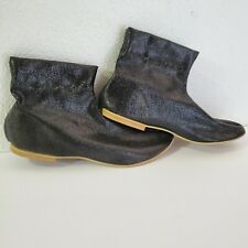Vintage Gold Lurex Mod Booties Stretch Ankle Boots GoGo by Lazaros Tag Med/Large