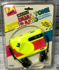 DSI La Rock Dual Tone 1992 Portable Am/fm Radio With Headphones Collectible Nw1