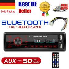 Autoradio mit Bluetooth Freisprech 2 USB SD Aux FM 7 Farben 1DIN FM MP3 Player