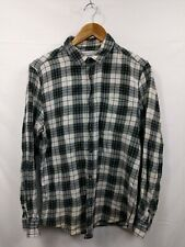 578027eb Mens Cedar Wood State Green Black Beige Check Casual Shirt Size Medium #2F2