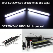 2Pcs Car 20W COB 6000K Xenon White LED Light DRL Driving Fog Lamps Waterproof
