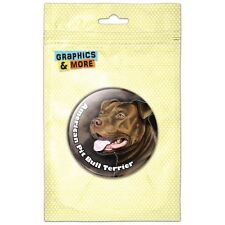 American Pit Bull Terrier Red Nose Dog Pinback Button Pin Badge